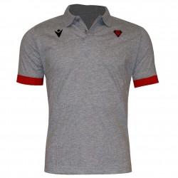 Polo officiel gris/rouge junior - Biarritz Olympique Pays-Basque
