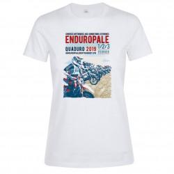 T-shirt femme blanc Affiche Enduropale