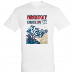 T-shirt homme blanc Affiche Enduropale