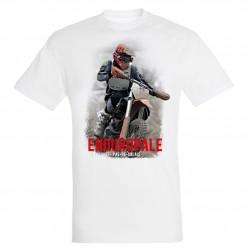 T-shirt homme blanc Moto Enduropale