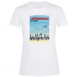 T-shirt Femme blanc Affiche 2020 Enduropale