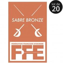 Écusson Sabre bronze x20