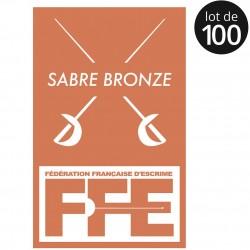Écusson Sabre bronze x100