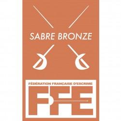Écusson Sabre bronze