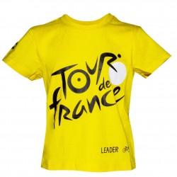 T-shirt enfant logo jaune Tour de France 2019
