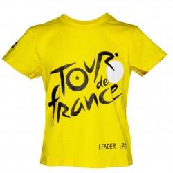 T-shirt enfant logo jaune Tour de France 2019