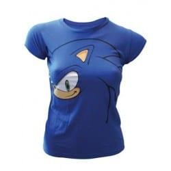 T-shirt femme Sonic big face