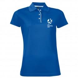 Polo Respirant Femme Logo Griffe Euro Volley 2019 Bleu