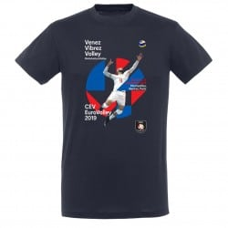 T-shirt Affiche Enfant Euro-Volley 2019 Bleu