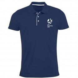 Polo Respirant Homme Logo Griffe Euro-Volley 2019 Bleu