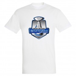 T-shirt homme blanc logo Synerglace
