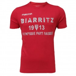 T-shirt Travel Cotton Rouge Adulte Biarritz Olympique