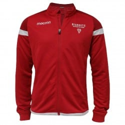 Shirt Full Zip Travel Rouge Adulte Biarritz Olympique