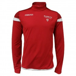 Shirt 1/4 Zip Player Training Rge Adulte Biarritz Olympique