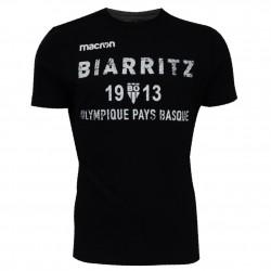T-shirt Travel Cotton Noir Junior Biarritz Olympique