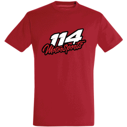 T-shirt homme 114 Motorsports rouge