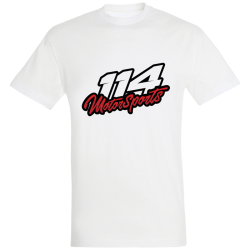 T-shirt homme 114 Motorsports blanc