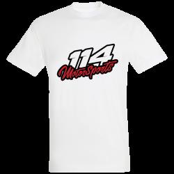 T-shirt homme 114 Motorsports blanc