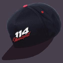 Casquette logo 114 Motorsports noire
