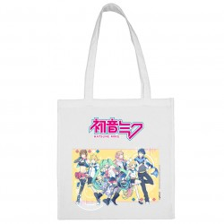 Sac shopping Composition Blanc Hatsune Miku