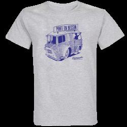 T-shirt Gris Camionnette Port en Bessin