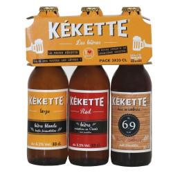 Pack de Bières Kekette 3*33 cl