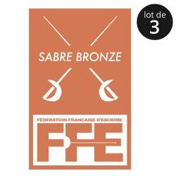 Écusson Sabre bronze x3