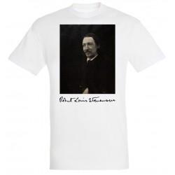 T-shirt Blanc Homme Portait de Stevenson