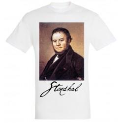 T-shirt Blanc Homme Portait de Stendhal