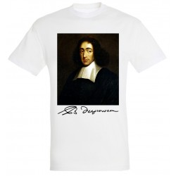 T-shirt Blanc Homme Portait de Spinoza