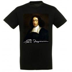 T-shirt Noir Homme Portait de Spinoza