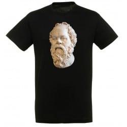 T-shirt Noir Homme Portait de Socrate