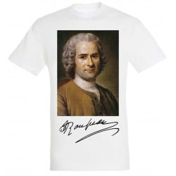 T-shirt Blanc Homme Portait de Rousseau