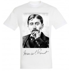 T-shirt Blanc Homme Portait de Proust