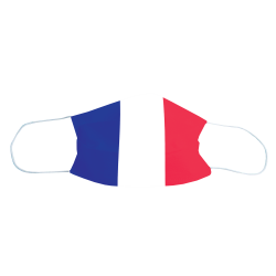 Masque de protection Drapeau France, Lot de 2