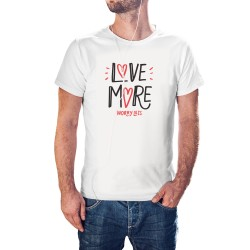 T-shirt blanc Love more