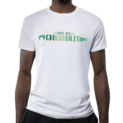 T-shirt blanc Crocodiles