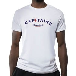 T-shirt blanc Capitaine