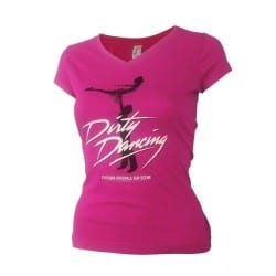 T-shirt femme rose affiche Dirty Dancing