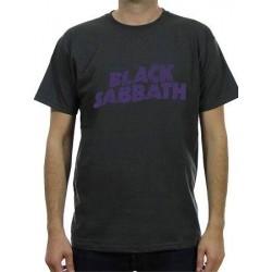 T-shirt Black Sabbath wavy logo vintage