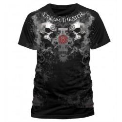 T-shirt Dream Theater - Double skull