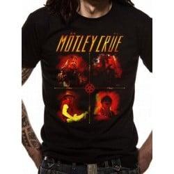 T-shirt Motley Crüe Live Collage logo