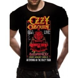 T-shirt OZZY OSBOURNE CRAZY TRAIN LIVE 81
