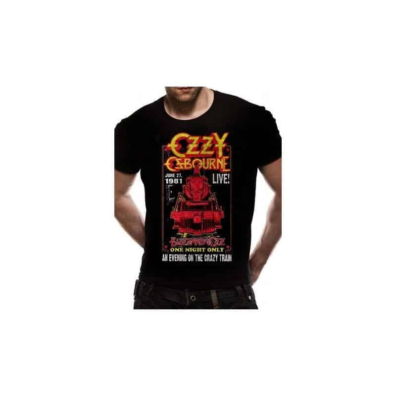 T-shirt OZZY OSBOURNE CRAZY TRAIN LIVE 81
