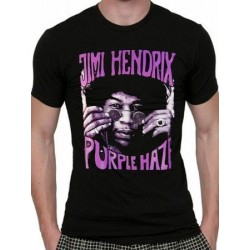 T-shirt JIMI HENDRIX Purple