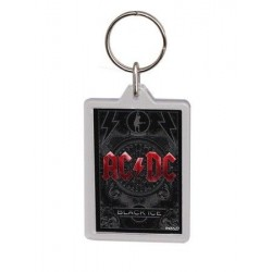 Porte-clefs acrylique ACDC black ice (double sided)