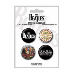Badges blanc The Beatles