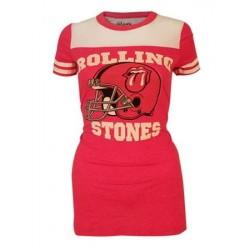 T-shirt femme Rolling Stones Vintage rouge