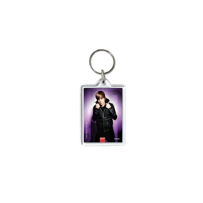 Porte-clefs acrylique Justin Bieber  purple