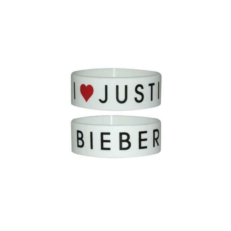 Bracelet  Justin Bieber  I heart